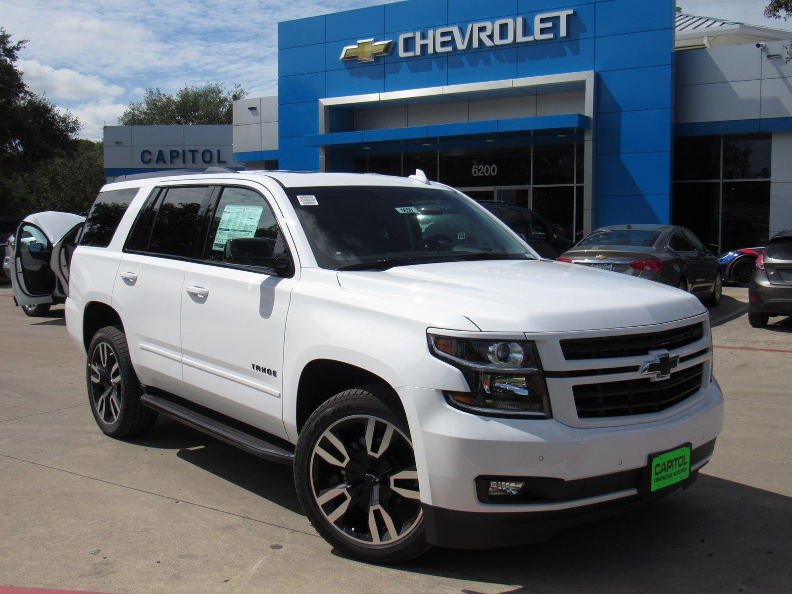 new 2018 chevrolet tahoe premier sport utility in austin 180650 capitol chevrolet. Black Bedroom Furniture Sets. Home Design Ideas